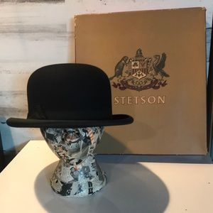 Vintage Stetson Bowler Hat in Original Box